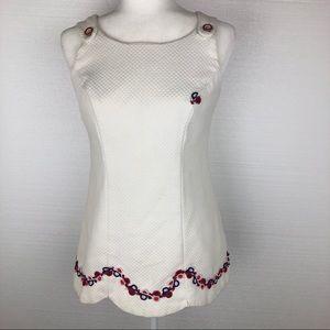 VTG White Tennis Dress Handmade 60s 70s MCM Preppy
